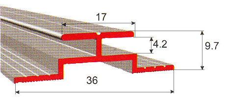 Стыковочный профиль H 4 мм